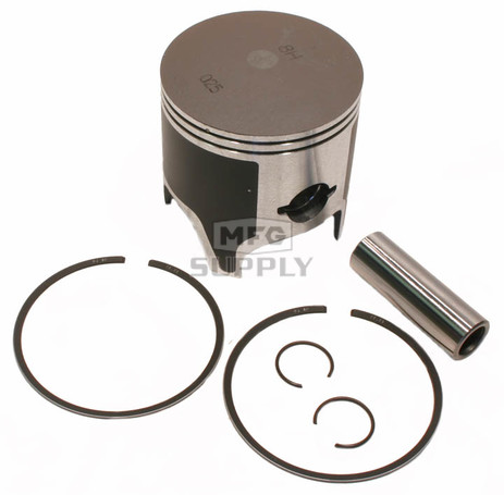 09-813-2 - OEM Style Piston assembly. 84-06 Yamaha 485 twin. .020 oversized.