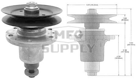 "10-13004 - Exmark Laser Z HP 44"" Deck Spindle Assembly"