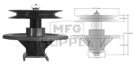 """10-13009 - Toro Z-Master 52"""" Deck Spindle Assembly"""