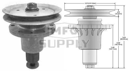 "10-13130 - Exmark Laser Z, HP models 48"" Deck Spindle Assembly"