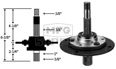 10-8968 - Spindle Assembly Replaces MTD 917-0913