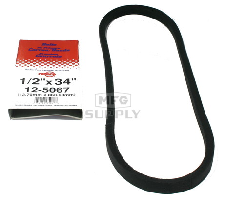 "12-5067-H2 - Replaces Bolens Snowblower Belt 1725253. 1/2"" x 34"""