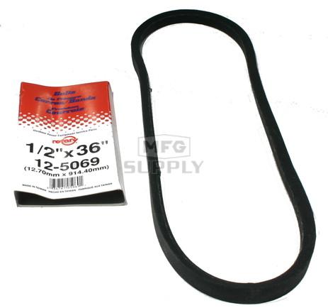 "12-5069-H2 - Belt replaces Simplicity 1657806 (4 hp Snowblower) 1/2"" x 36"""