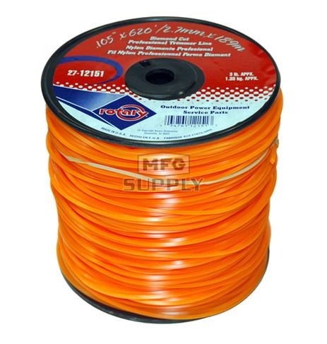 27-12151-Orange Diamond Cut Professional Trimmer Line