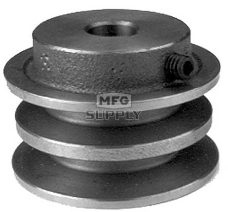 13-9805 - Toro Double Pulley; Replaces 74-0480 & 99-5878.