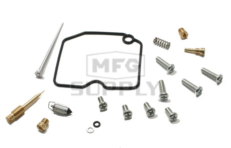 Complete ATV Carburetor Rebuild Kit for 11-12 Arctic Cat 350 CR / 350 Utility. Also 13-newer 400 FIS w/AT