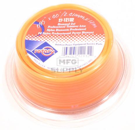27-12132 - Orange Diamond Cut Professional Trimmer Line