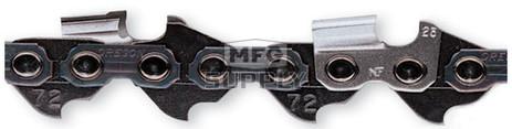 "72DPX-25 - Oregon: 25 feet Semi-Chisel Chain. 3/8"" pitch, 050 gauge"