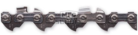 """91VXL - Oregon: Low Profile Semi-Chisel Chain. 3/8"""" pitch, 050 gauge. Order by the number of drive links."""