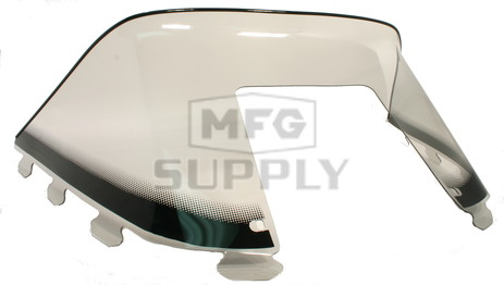 "450-233-03 - Polaris Low 9"" Windshield Graphic Smoke. Old Generation Style Hood."