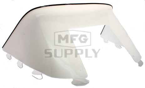 """450-233-55 - Polaris Low 9"""" Windshield Solid White. Old Generation Style Hood."""