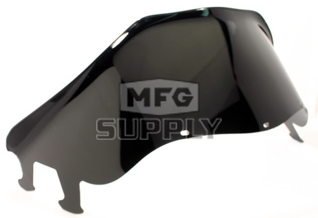 "450-238-50 - Polaris Low 11-1/2"" Windshield  Black. Agressive Style Hood."