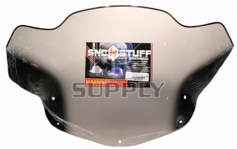 "450-483-03 - Ski-Doo Fixed Med 14"" Smoke with Black Graphics Windshield. Many 04-09 Summit REV"