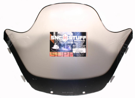 "450-644-03 - Yamaha High 13-1/2"" Black Graphics on Smoke Windshield. SX Chassis."