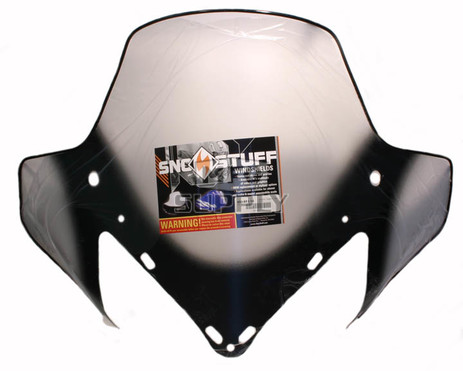 """450-651-10 - Yamaha med 15-1/2"""" Black Graphics on Clear Windshield. RX-1, RS Vector, Rage."""