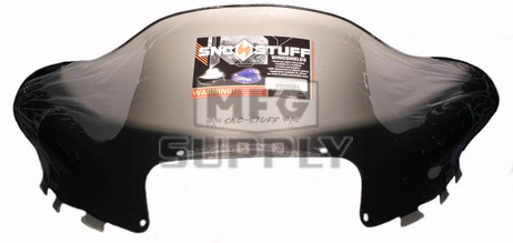 """479-111-03 - Arctic Cat Low 14"""" Flared Windshield  Black Graphics on Smoke"""