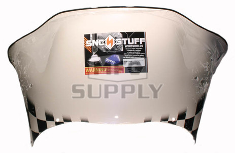 479-174-60 - Arctic Cat Med-Low Flared Windshield Black Checker