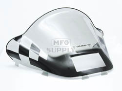 479-471-60 - Ski-Doo High Black Checkerboard on Smoke Windshield. S-2000 Chassis with Lampbase Pod.