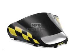 479-475-57 - Ski-Doo Med-Low Flared Yellow Checkerboard on Black Windshield. For CK-3 Chassis.