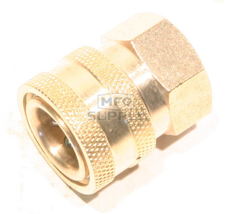 "48-9422 - Brass Socket  for Pressure Washer  3/8"" FPT"