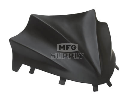 480-200-60 - Polaris Flat Black Peak Windshield. 05 and newer RMK & IQ Chassis.