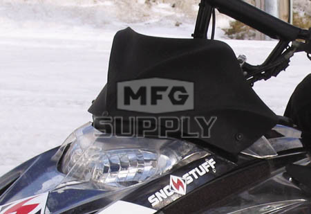 480-400-60 - Ski-Doo Flat Black Peak Windshield. 03-07 REV Chassis.