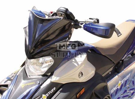 480-600-50 - Yamaha Gloss Black Peak Windshield. 05 and newer Apex & 06 and newer Attak Chassis.