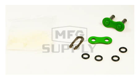 520GR-CL-W1 - Green 520 O-Ring Motorcycle Connecting Link