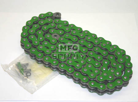 520GR-ORING-114 - Green 520 O-Ring ATV Chain. 114 pins