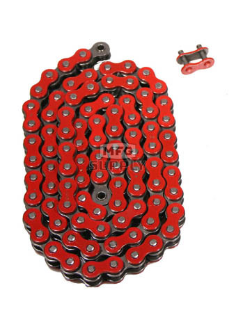520RD-ORING-96 - Red 520 O-Ring ATV Chain. 96 pins