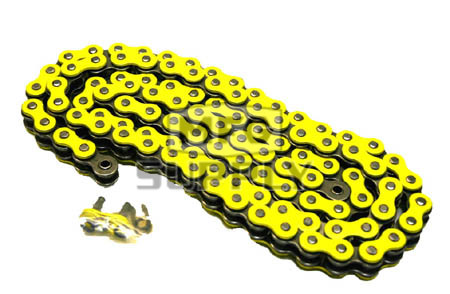 520YL-ORING-116-W1 - Yellow 520 O-Ring Motorcycle Chain. 116 pins