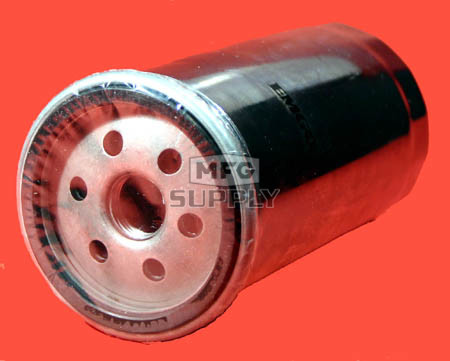 5703-0815 - Chrome Spin-on Oil Filter for many late 80 & 90 Harley-Davidson cycles