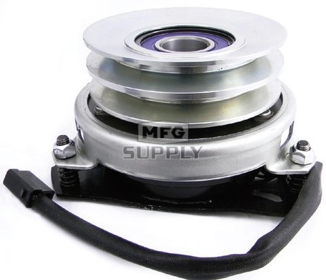 """95568 - Electric PTO Clutch 1-1/8"""" ID, 4-7/8"""" CW Double Pulley, 1/2"""" Belt"""