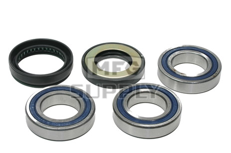 Honda Rear Wheel Bearing Kit with Seals. 97-14 Recon & Sportrax ATVs