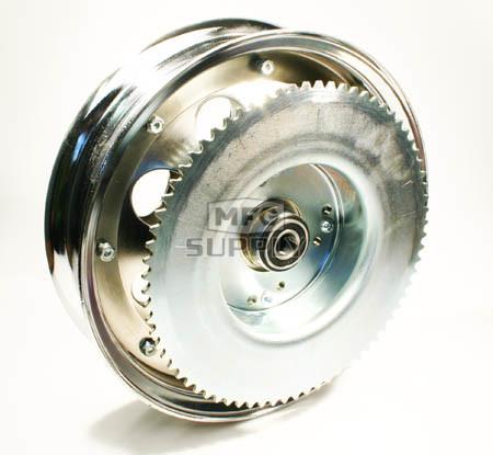 "AZ10155 - 10"" Steel Wheel w/Riveted #35 Sprockets & Drums-72 Tooth, 5/8"" Bearing"