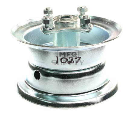 "AZ1027 - 5"" 2 piece Steel Wheel, 3-1/4"" wide, 5/8"" ID Bearing, flanged hub"