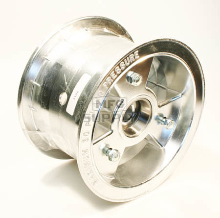 "AZ1106 - 6"" Aluminum Wheel, 4"" wide, 3/4"" ID Tapered Bearing"