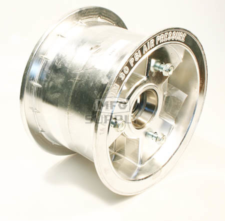 "AZ1107 - 6"" Aluminum Wheel, 4"" wide, 5/8"" ID Tapered Bearing"