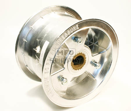 "AZ1117 - 6"" Aluminum Wheel, 4"" wide, 1"" to 3/4"" Step Live Axle"