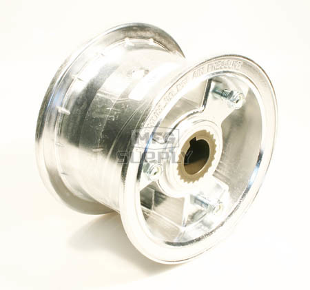 "AZ1147 - 5"" Aluminum Wheel, 3"" wide, 1"" to 3/4"" Step Live Axle"