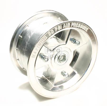 "AZ1199 - 6"" Aluminum Wheel, 3-1/2"" wide, 3/4"" ID Bearing"