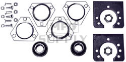 """AZ1864 - Live Axle Bearing Kit with 3 Hole Flangette for 1-1/4"""" Axle. With free spinning axle bearings."""