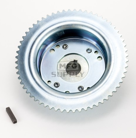 """AZ2267-ID - 4-1/2"""" Drums with Riveted Hubs 60 Tooth Sprocket - Machined ID"""