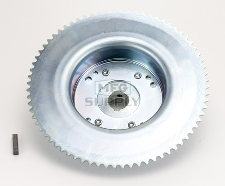 """AZ2268-ID - 4-1/2"""" Drums with Riveted Hubs 72 Tooth Sprocket - Machined ID"""
