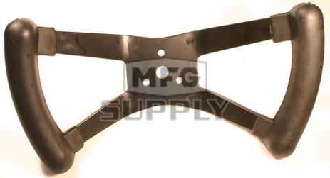 AZ2293-BLK - Polished Aluminum Butterfly Steering Wheel