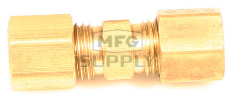 "AZ8311 - Brass Full Union Fitting, 3/16"" Tube to 3/16"" Tube"