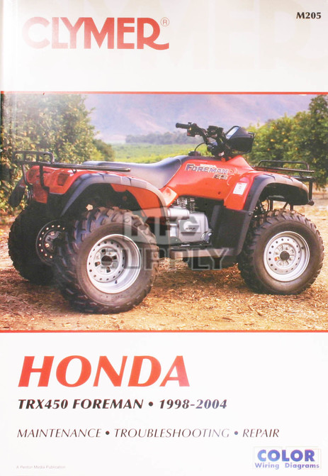CM205 - 99-04 Honda TRX450 Foreman Repair & Maintenance manual.