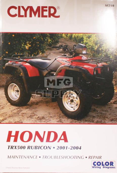 CM210 - 01-04 Honda TRX500 Rubicon Repair & Maintenance ...