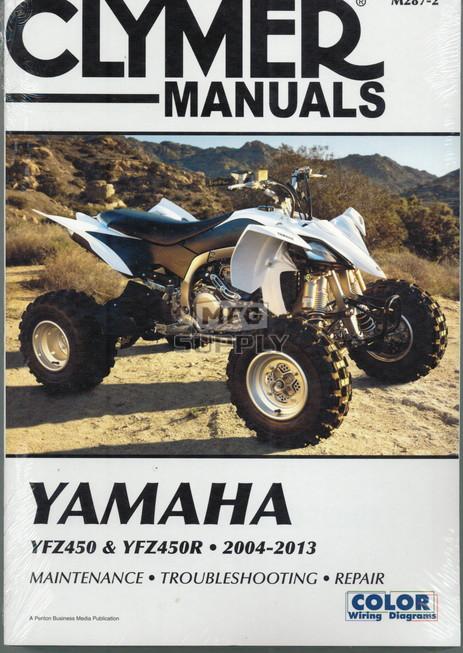 CM287 - 2004-2013 Yamaha YFZ450 & YFZ450R Repair & Maintenance manual.