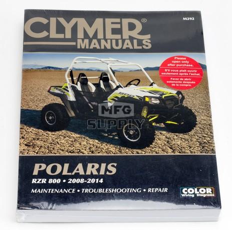 CM292 - 2008-2014 Polaris RZR 800 series Repair & Maintenance Manual.